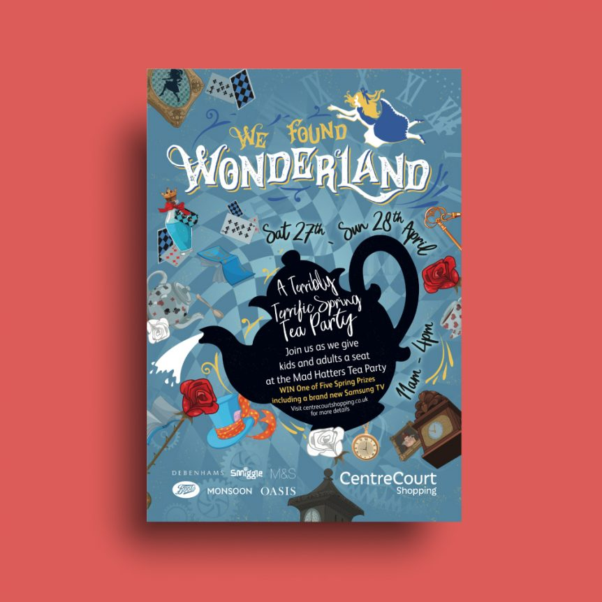 Centrecourt Wonderland Campaign Artwork