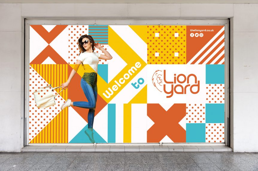 Lion Yard Hoarding Design